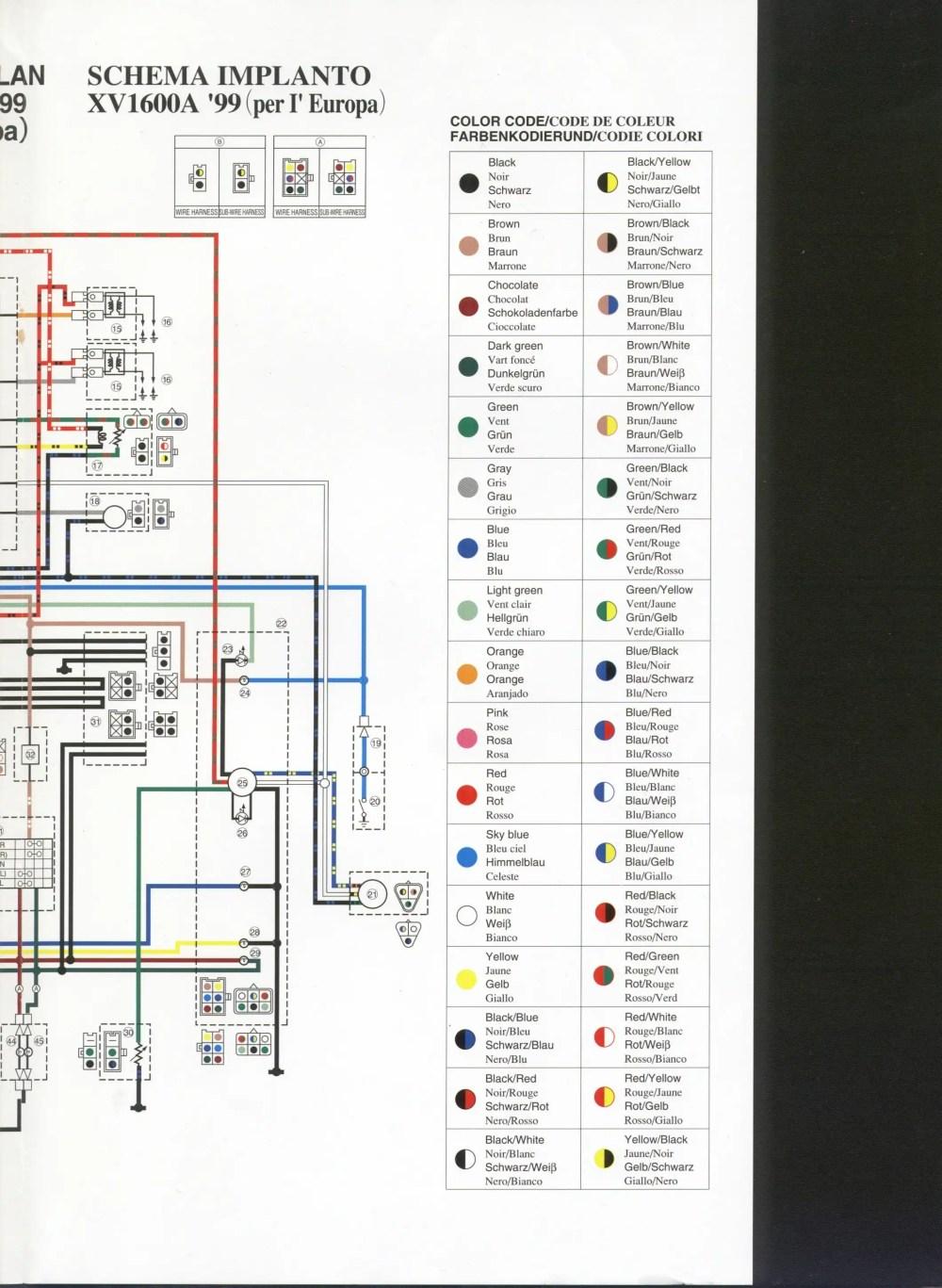 medium resolution of 1994 yamaha 750 virago wiring diagram