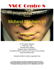 Midland Mayhem Rally flyer