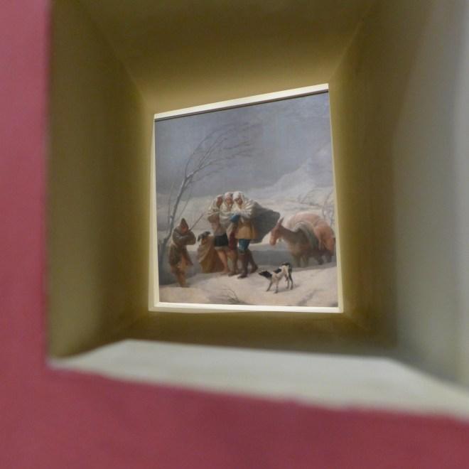 Peep window into Goya's Winter Scene. The Prado Museum.