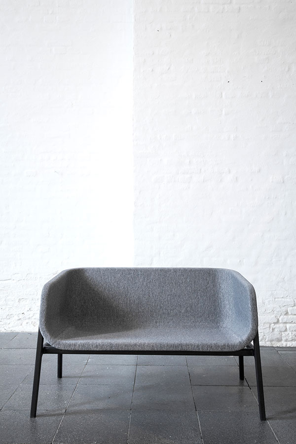 Close - A hybrid between a bench and a sofa. In collaboration with NORM Architects, Jacob Langebæk and Niels Højlund Rasmussen.