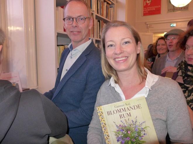 Gunnar Kaj with the Designer Eva Schildt.