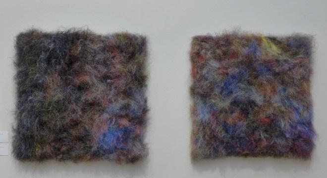 Hrafnhildur  Arnardottir Fur-ling Synthetic Hair, Mesh and Wood.