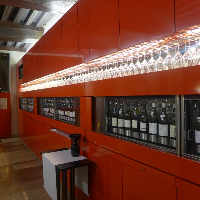 70 different types of wine available by the glass.