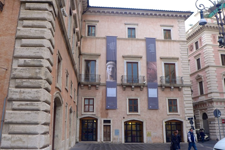 Facade of 15th century Palazzo Altemps.
