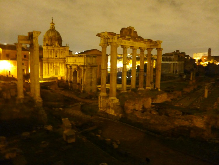 Fori Imperiali, built for the Roman Empire between 46 BC and 113 AD. Just magical at night.