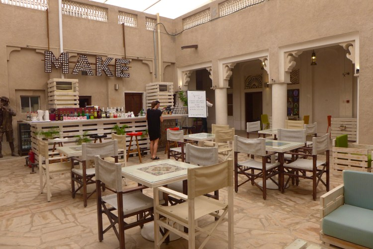 Make Art Cafe, Al Fahidi historical neighbourhood.