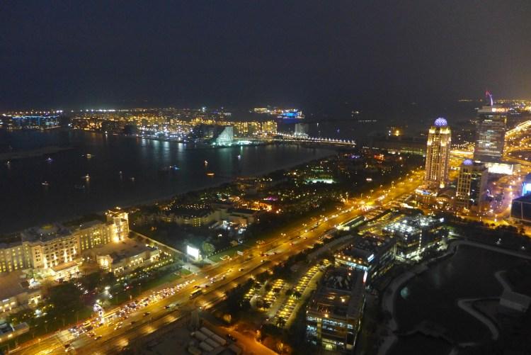 The Dubai Marina.