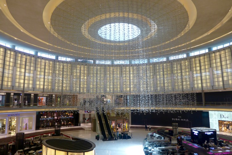 Dubai Mall, the largest mall in the world.