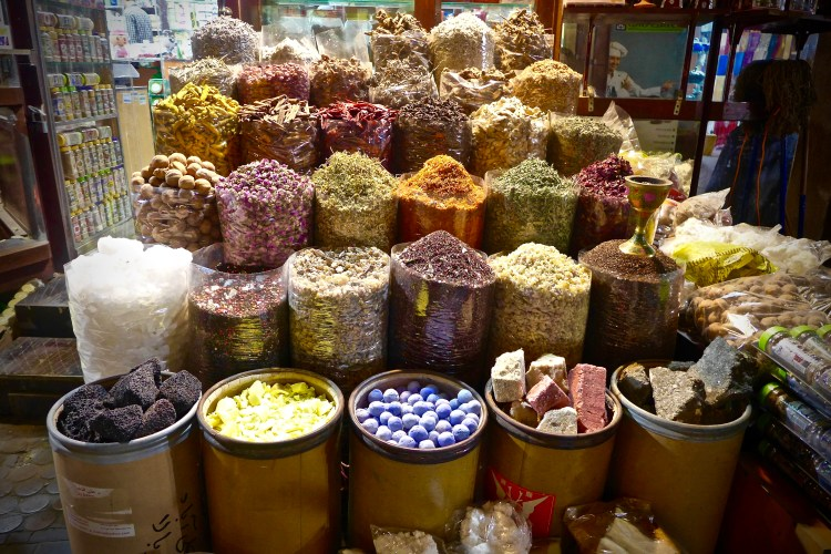 The array of spices, heady smells combined with the colours makes this a real trip for the senses.