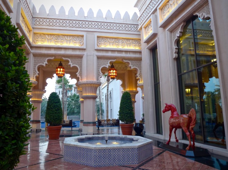 The Al Qasr Hotel in Madinat Jumeirah, just breathtaking.