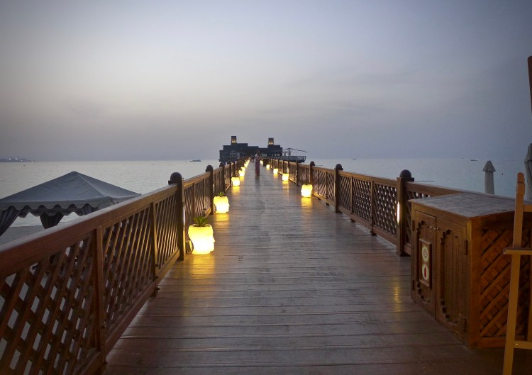 The restaurant Pierchic is at the end of this pier, it has been voted as the most romantic restaurant in Dubai.