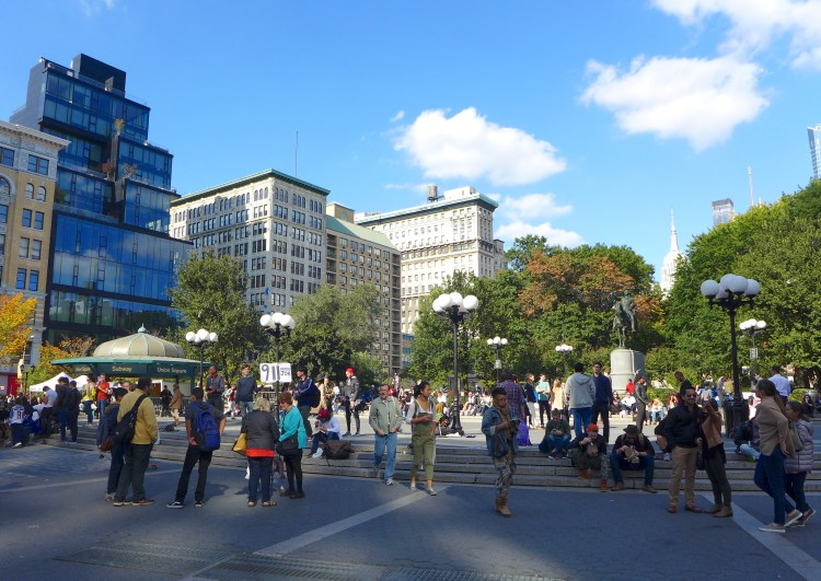Union Square. What I love about New York is the diversity of the city.