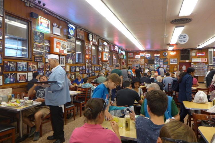 Katz's Deli, home of the legendary pastrami sandwich.