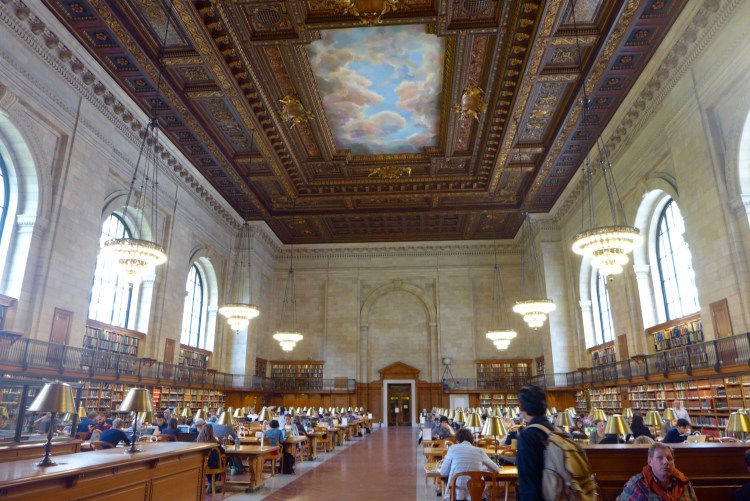 The newly restored Rose Reading Room at the Public Library.