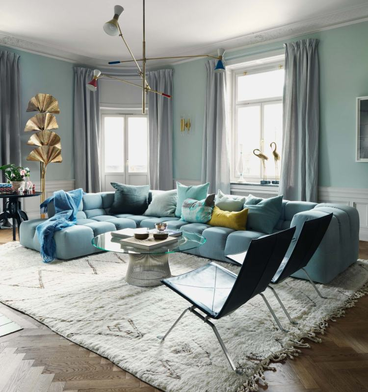 Living Room of David and Charlotta Zetterstöm, owners of the very popular Fabrique bakery chain.