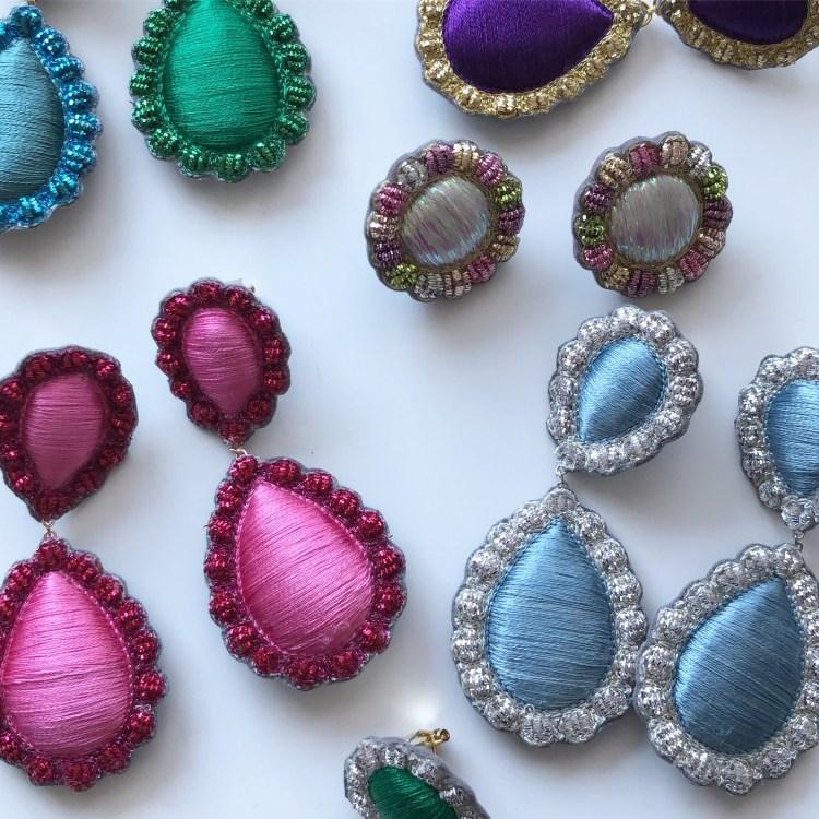 Embroidered jewels. Sophia 203. V Söderqvist Blog interview.