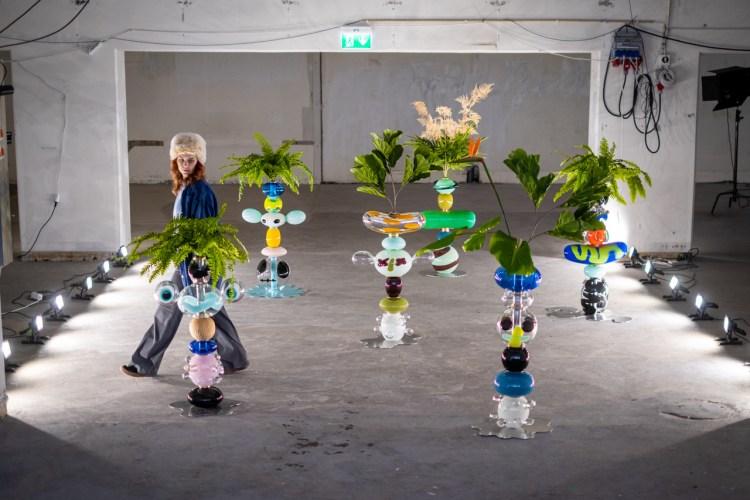 Frida Fjellman Totem Buddies. Stockholm Design Week. Photo: Daniel Camerini.
