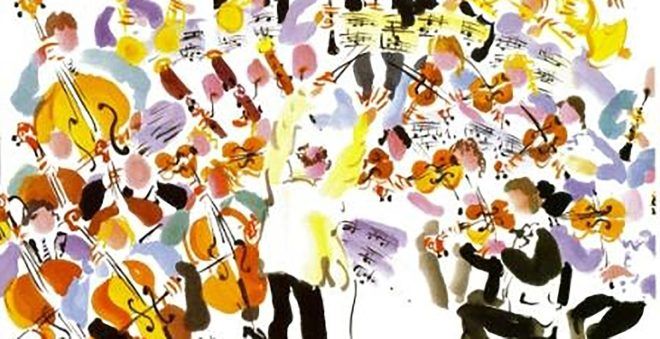 Image result for orchestra cartoon