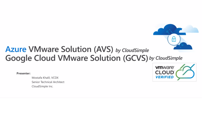 (VMUG Egypt) Azure VMware Solution live demo and Google Cloud VMware Engine preview (in Arabic/English)