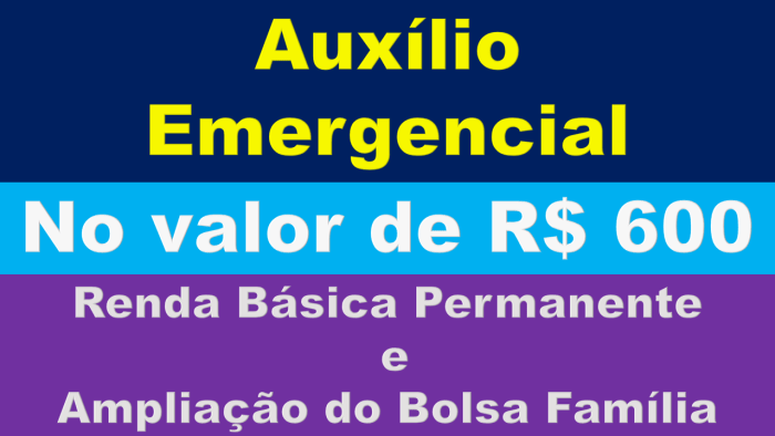 ampliação do Bolsa Família e a adoção de um programa permanente de renda para os mais pobres.