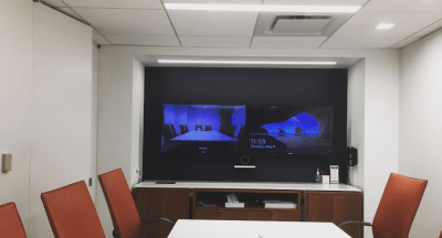 Installation of Video Conferencing System. Conference Room. Washington D.C.