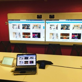 Installation of Cisco Telepresence. Meeting Room. Washington.D.C