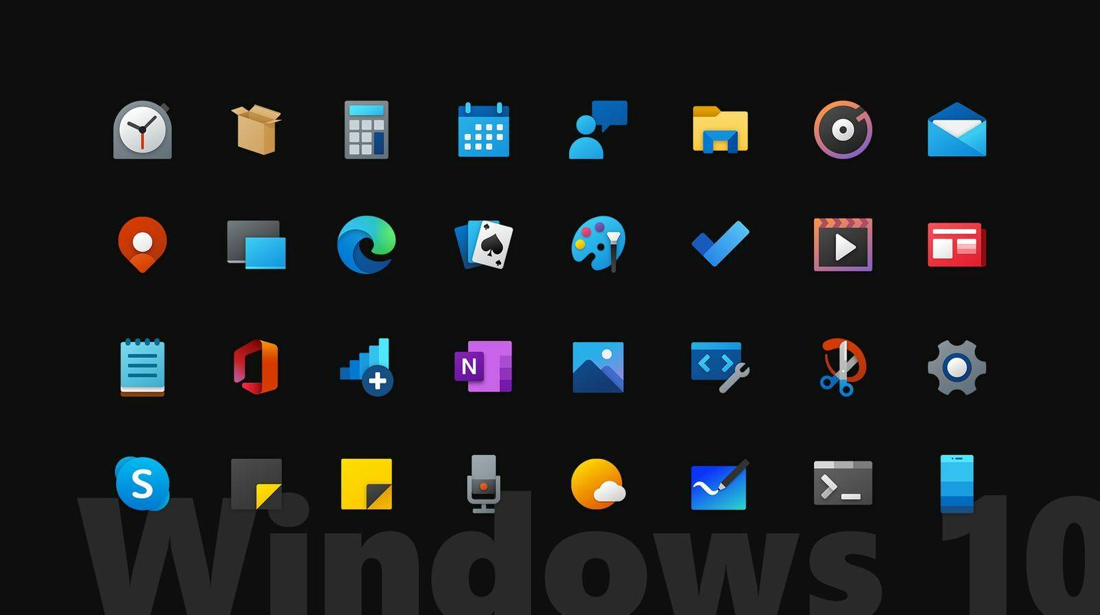 Iconic - Official 2020 Windows 10(X) - icons png [DOWNLOAD FREE]