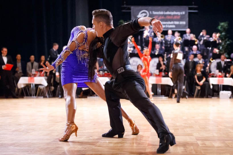 Ludwigsburg, Germany - February 24: Galaball 50 Jahre 1.TCL – Landesmeisterschaft S Latein in Ludwigsburg (Forum am Schlosspark), Germany on February 24 2018. Photo: vstudio.photos