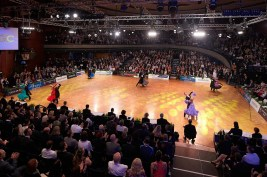 August 12, 2017 - Stuttgart, Germany. WDSF GrandSlam Standard at German Open Championships 2017, Kultur- und Kongresszentrum Liederhalle Stuttgart. (Credit Image; vstudio.photos)