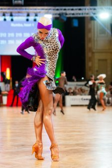 Wuppertal - 07.07.2018: danceComp, WDSF World Open Adult Latin in Wuppertal (Historische Stadthalle), Germany on July 7 2018. Photo by: vstudio.photos