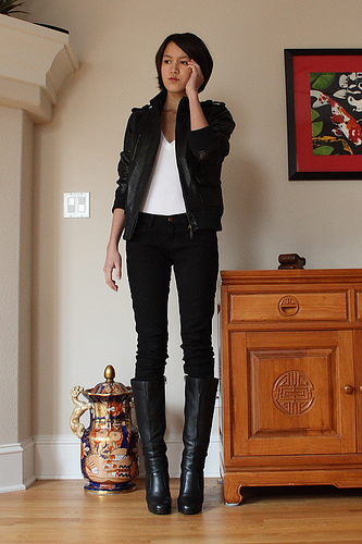 Tall boots to wear with dresses men