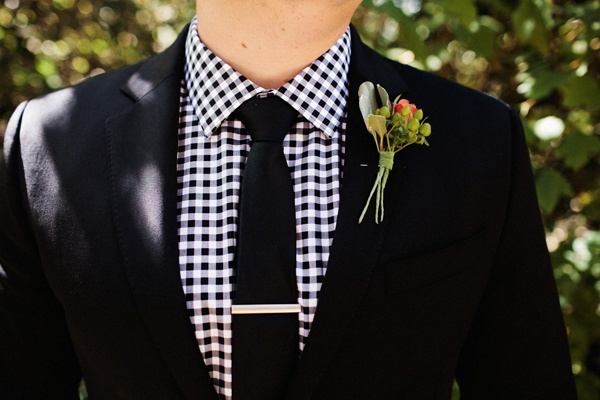 Suit Tie Green Charcoal