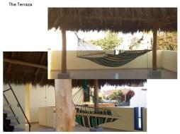 One of the three writing hammocks
