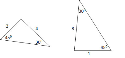 How to find if two acute / obtuse triangles are similar