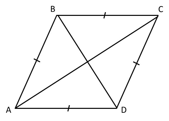 How to find the length of the diagonal of a rhombus