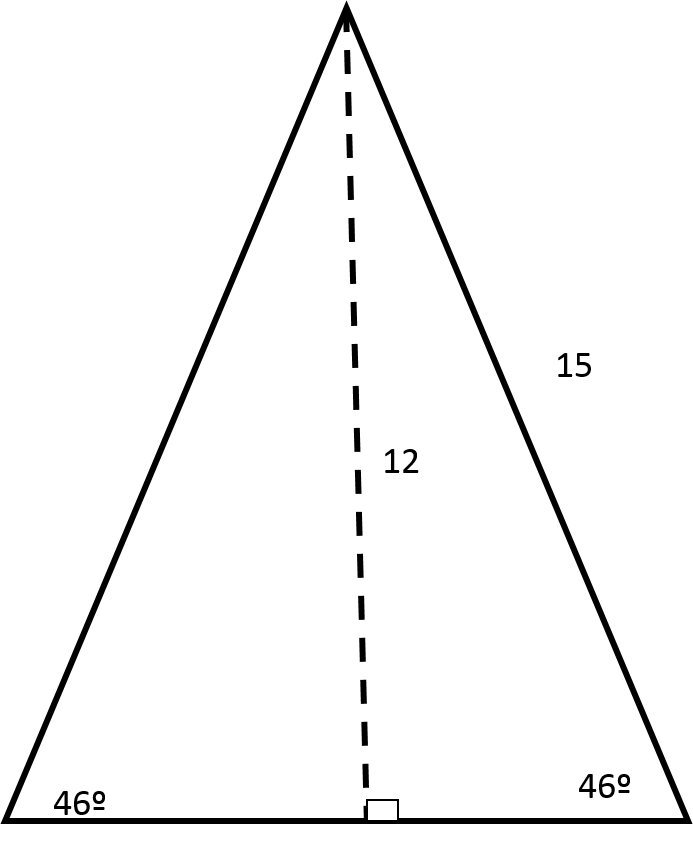 How to find the length of the side of of an acute / obtuse