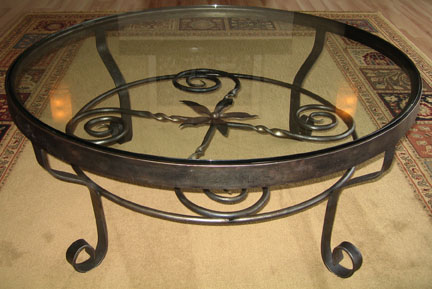 wrought iron coffee table plans