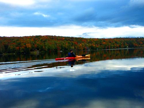 kayak on Lake Raponda
