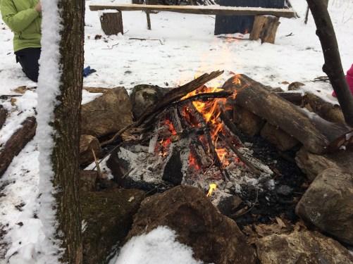 Cozy fire! Thanks, Bobby!
