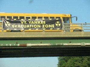Yankee evacuation sign on I-91. Courtesy photo