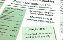 Vermont state income tax form for 2012.