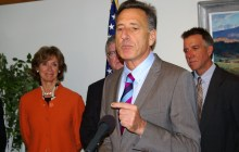 Gov. Peter Shumlin announces a delay in the implementation of the state's new health care exchange Thursday in Montpelier. Photo by Andrew Stein/VTDigger