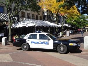 Burlington police cruiser