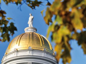 Golden dome of Vermont State House