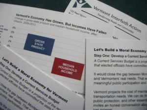Vermont Interfaith Action, Moral Economy