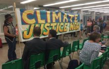 Protesters disrupt PSB hearing related to paying for pipeline