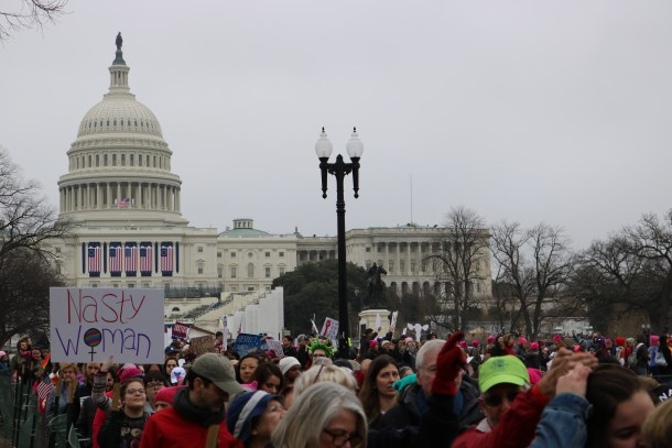 More than 500,000 people gathered on the national mall Saturday in an act of resistance against Republican President Donald Trump Photo by Jasper Craven/VTDigger
