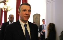 Gov. Phil Scott after delivering his first inaugural address. Photo by Elizabeth Hewitt/VTDigger