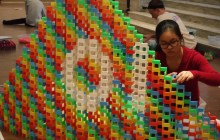 Vermont domino event spurs a multimedia chain reaction