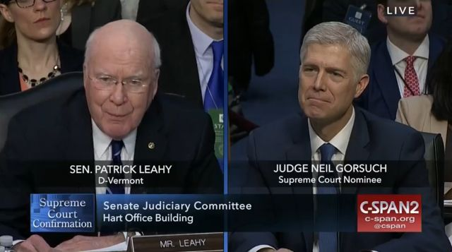Image result for leahy gorsuch